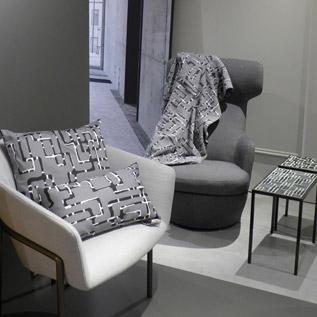 Kissen und Decke aus der Transit-Kollektion von rheiNdesign
